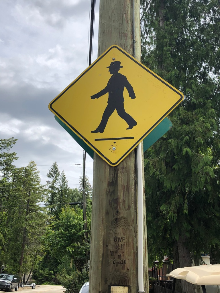 Gentleman crossing...